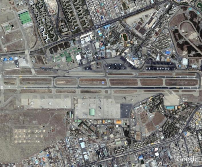 تصویر كلی باند فرودگاه مهرآباد